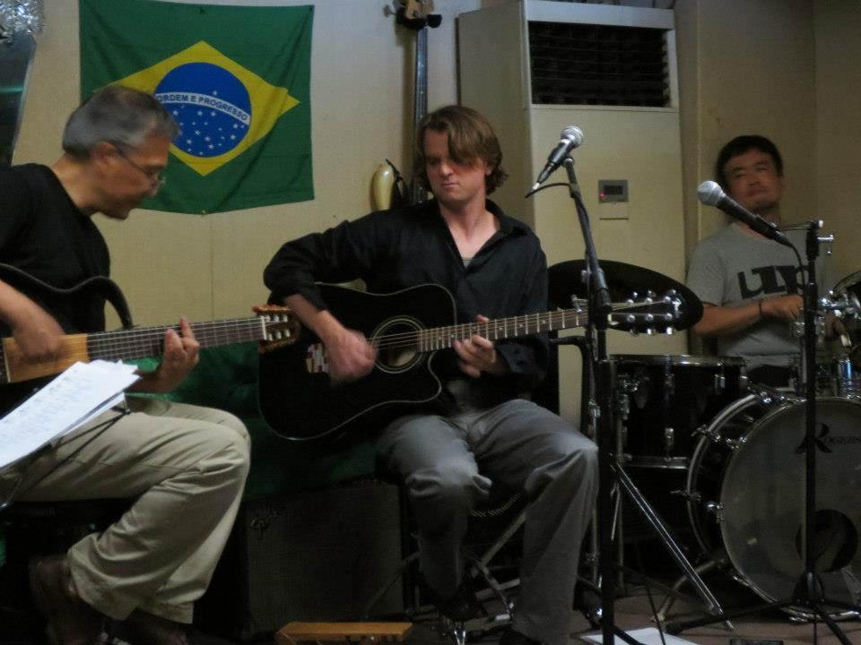 Jamming with some loca Japanesel musicians